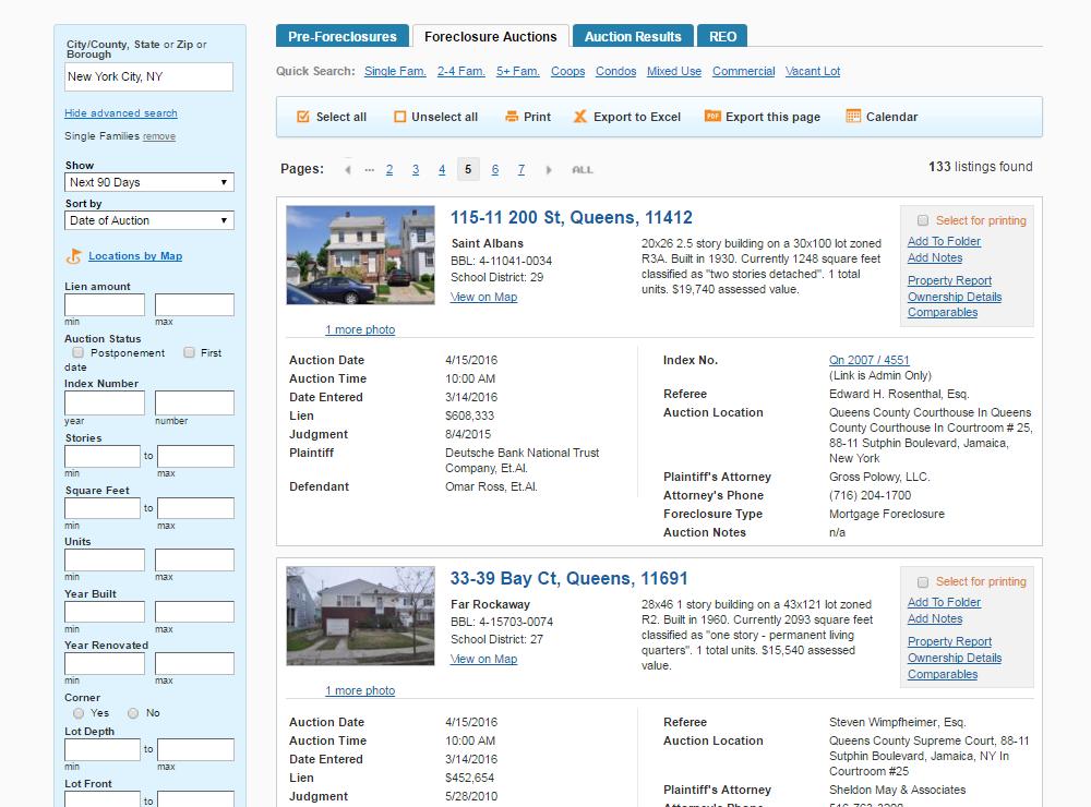 Foreclosure Listings
