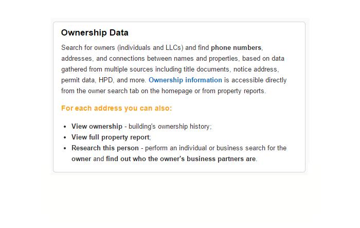 Ownership data