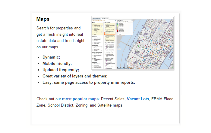 Real estate maps
