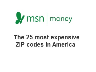 The 25 most expensive ZIP codes in America